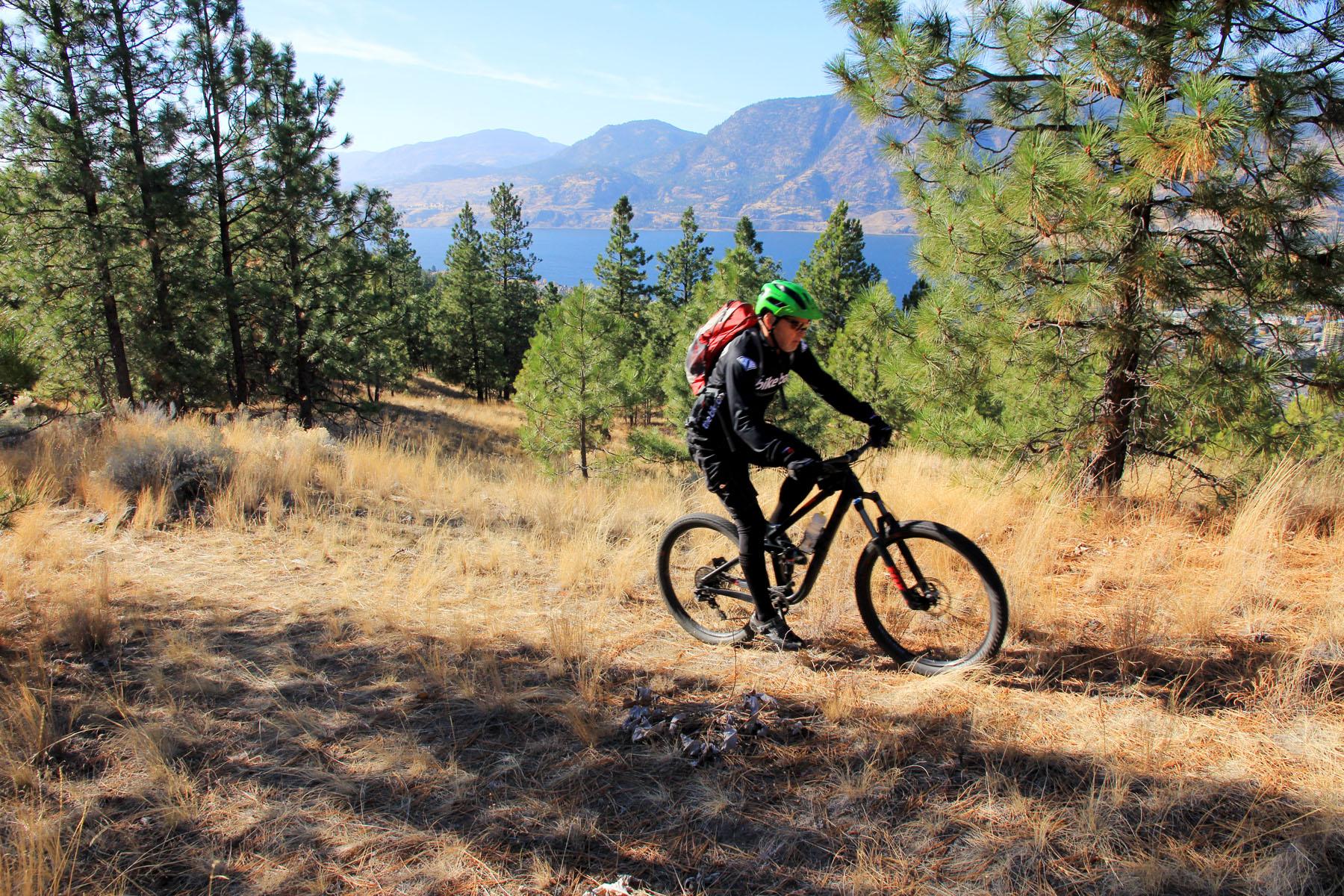 Biking at the Bluffs at Skaha